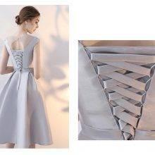 Elegant A Line O Neck Short Prom Dresses with Appliques Beads