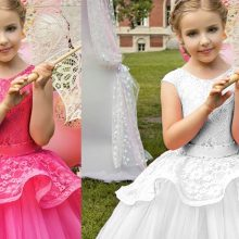 2019 Fashion Kids Ball Gown Dresses for Teenage Girls Party Dress
